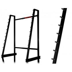 Porte-haltères réglable en largeur